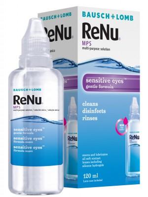 ReNu MPS tundlikele silmadele 120 ml + konteiner 43,3 €/l